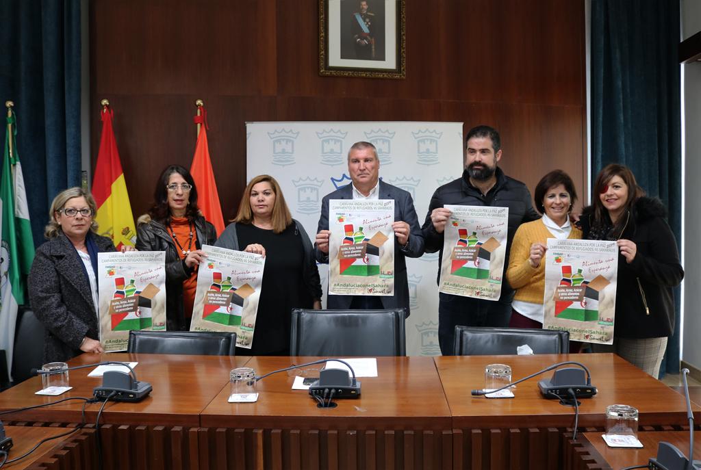 Presentación de la Campaña 'Caravana por la paz 2019', en el Salón de Plenos del Consistorio.