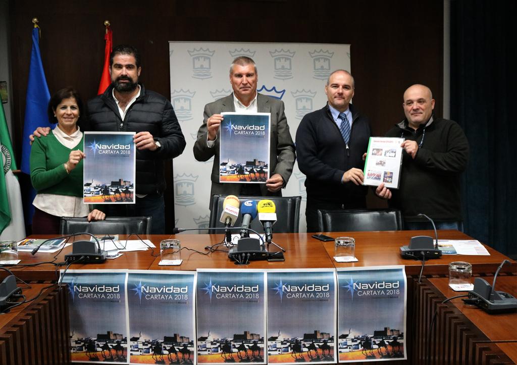 El Ayuntamiento y los comerciantes presentan la Campaña de Navidad 2018 en el Salón de Plenos del Ayuntamiento de Cartaya.