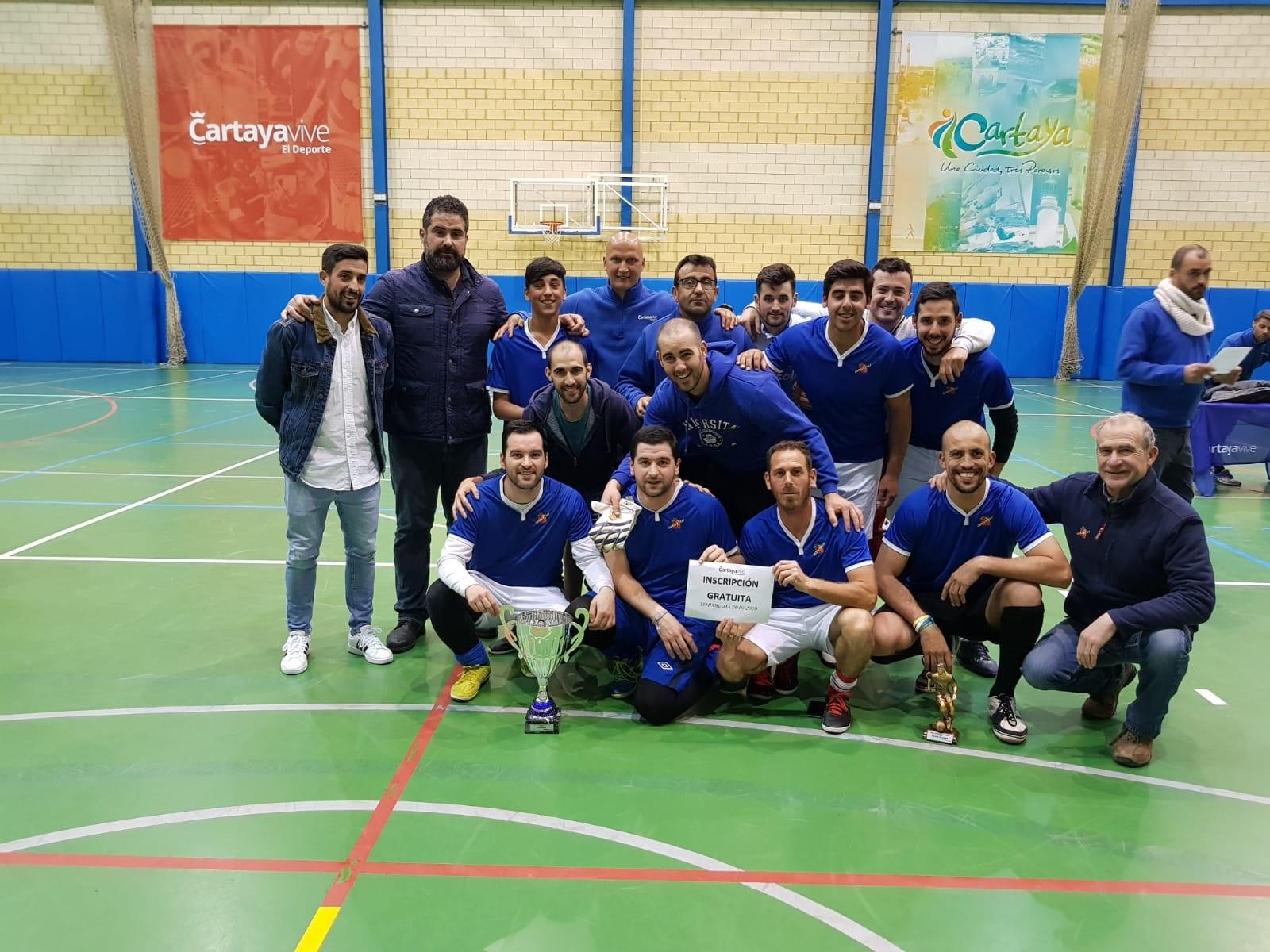 Equipo ganador del Campeonato de Invierno de Fútbol Sala 2018-2019