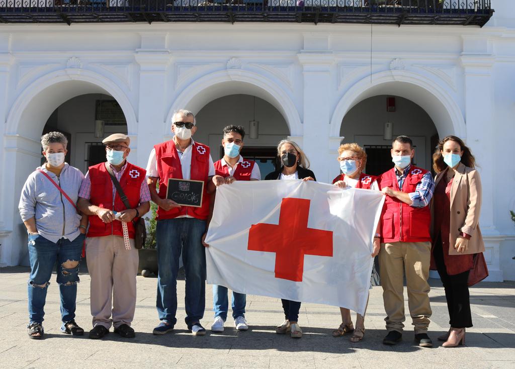 La Asamblea de Cruz Roja en Cartaya celebra el Día de la Banderita sin huchas, para dar las gracias a la sociedad cartayera