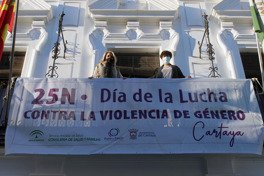 El Ayuntamiento de Cartaya inicia los actos del 25 N contra la violencia de género.